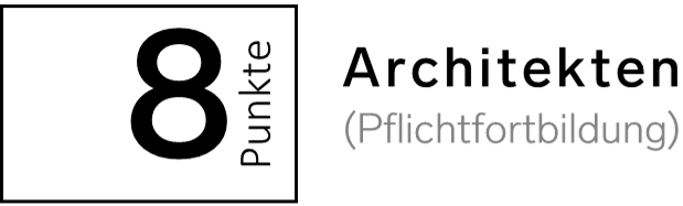 8 Fortbildungspunkte Architekten